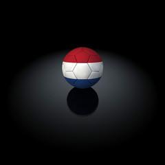 Olanda - Pallone con bandiera su sfondo nero