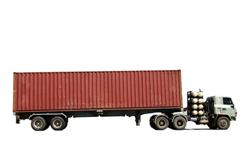 Cargo Delivery Truck Isolated (with clipping path)