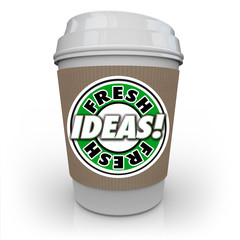 Fresh Ideas Coffee Cup Caffeine Fuels Creativity Imagination New