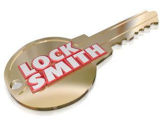 Locksmith Gold Key Word Profession Job Worker