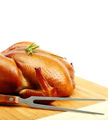 Roast chicken isolated