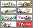 Set of Football Event Banner Header Ad Template Design. - 65742527
