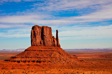 East Mitten Butte in Monument Valley