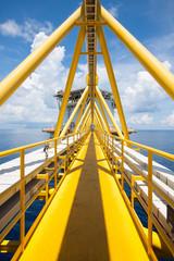 Platform construction in offshore