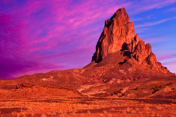 Dramatic Rock Formation and Sky in Monument Valley.
