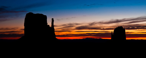 The Mittens at Sunrise in Monument Valley