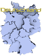 Germany national map Deutschland states