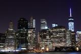 Manhattan Skyline At Night, New York City - 65743174