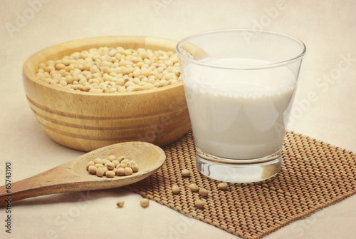soy milk with beans - 65743190