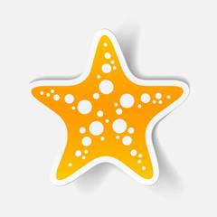realistic design element: starfish