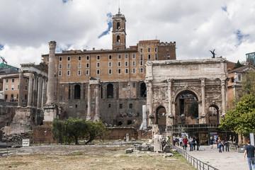 Rome, Italy - ancient Roman Forum, UNESCO World Heritage Site