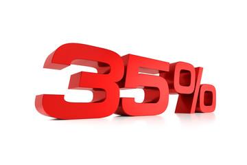 Serie Prozente - 35 Prozent