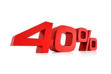 Serie Prozente - 40 Prozent