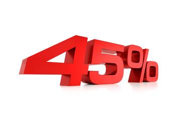 Serie Prozente - 45 Prozent