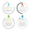 Circular Progress Meter Infographic