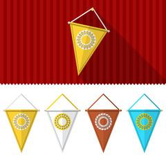 Flat illustration of triangular pennants