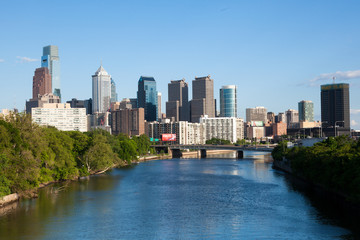 Skyline view of Philadelphia, Pennsylvania .