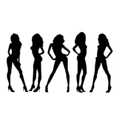 Vector Fashion Model Silhouettes
