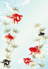 金魚の背景
