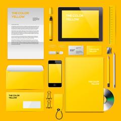 Yellow Corporate ID mockup