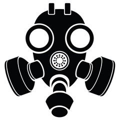 silhouette of gas mask