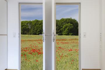 geöffnete Doppeltür © Matthias Buehner