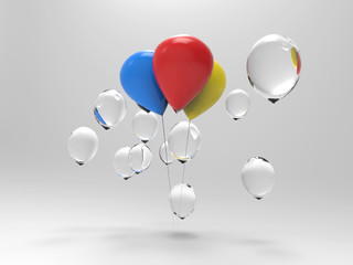Difference of balloons