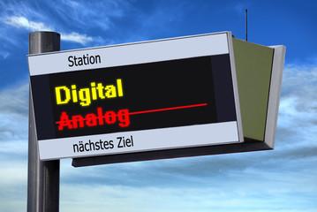 Anzeigetafel 3 - Digital