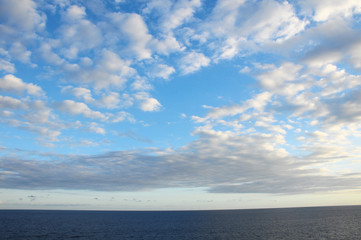 Colored Clouds over the Ocean