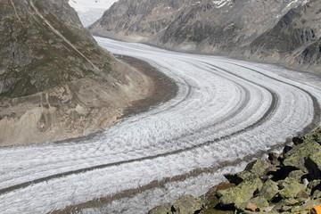 S-shaped glacier at Bettmeralp