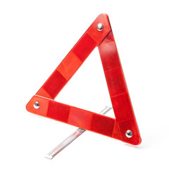 Emergency Road Triangle - Stock Photo