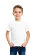 White T-shirt on a cute boy