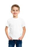 White T-shirt on a cute boy - 65748944