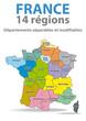 FRANCE - Nouvelle Carte des 14 Régions