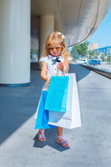 Shopaholic little girl
