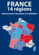 CARTE DE FRANCE - 14 Régions