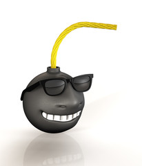Bombe Smile Brille Cartoon