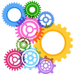 Modeling bright gear wheels background