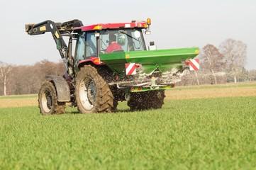 Getreideanbau, Frühjahrsdüngung
