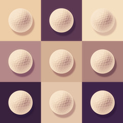golf ball abstract