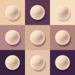 golf ball abstract