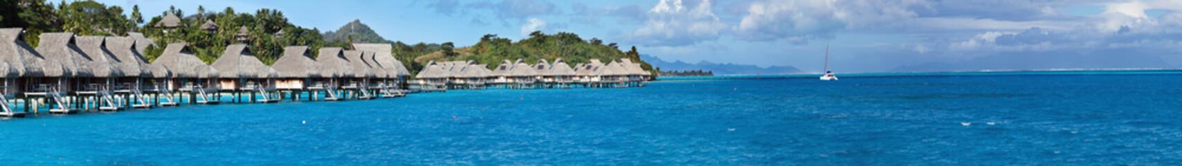 Blue lagoon. Polynesia, panorama..