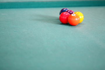 color ball on the snooker table.