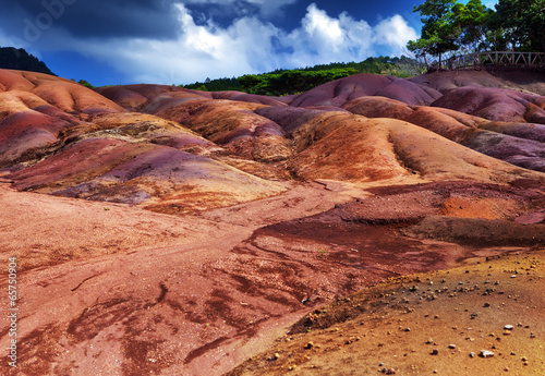 most famous tourist place of Mauritius - earth of seven colors - 65750904