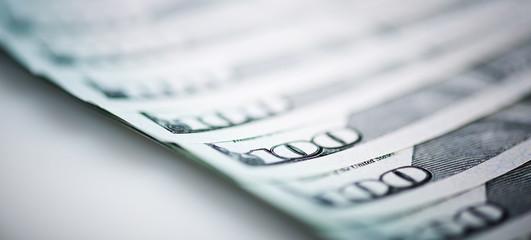 new one Hundred Dollar Bills (shallow DOF)