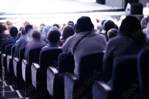 Papiers peints Fete, Spectacle Audience sitting in tiered seating