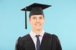 Portrait of a man with graduation hat