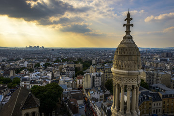 Aerial View of Paris from Sacre-Cœur