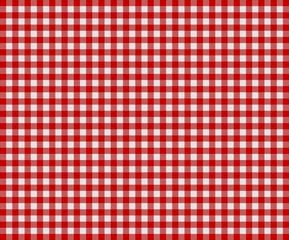 Traditionelles Tischdeckenmuster in Hellgrau und Rot