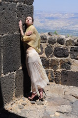 Young lady in the Belvoir Fortress